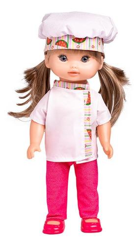 boneca cozinheira zoe com acessórioso de cozinha