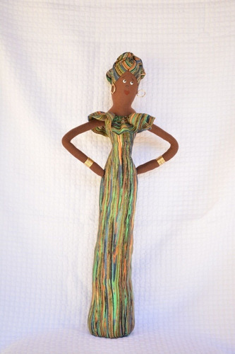 boneca de pano africana decorativa
