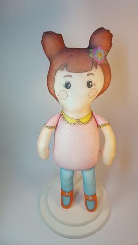 boneca de pano - anita - apcavalari