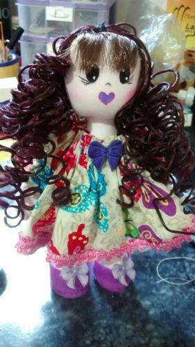 boneca de pano artesanal articulada, 20cm