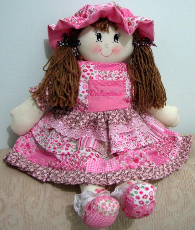 Boneca De Pano Artesanato Personalizada Nome Bordado Comprar R$ 129,00 em Mercado Livre