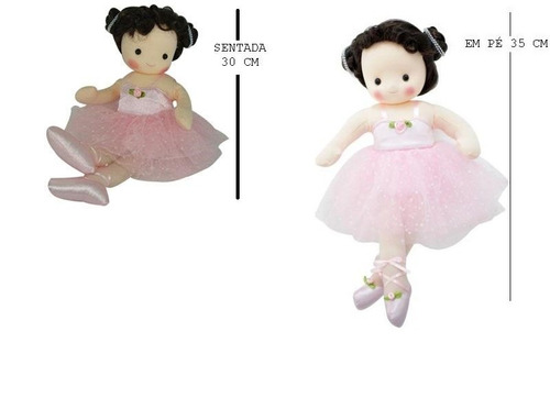 boneca de pano bailarina a corda musical decor ou brinca ros