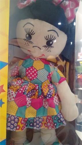 boneca de pano flora  - papo de pano 40cm