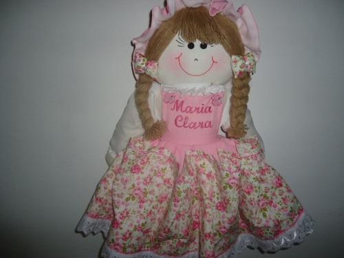 boneca de pano  porta fralda 57 cm