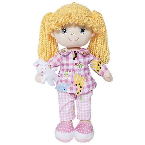 boneca de pano soninho 37 cm buba