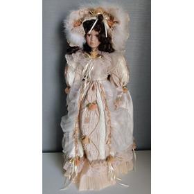 Boneca De Porcelana Dama Antiga 55 Cm Porcelain Doll