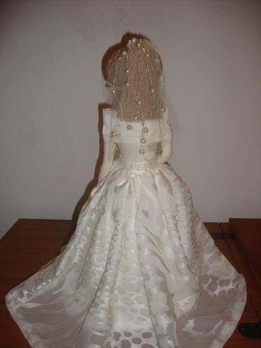 boneca de tecido noiva