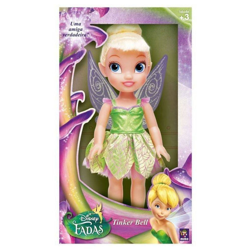 boneca disney fadas tinker bell princesa real mimo 6371