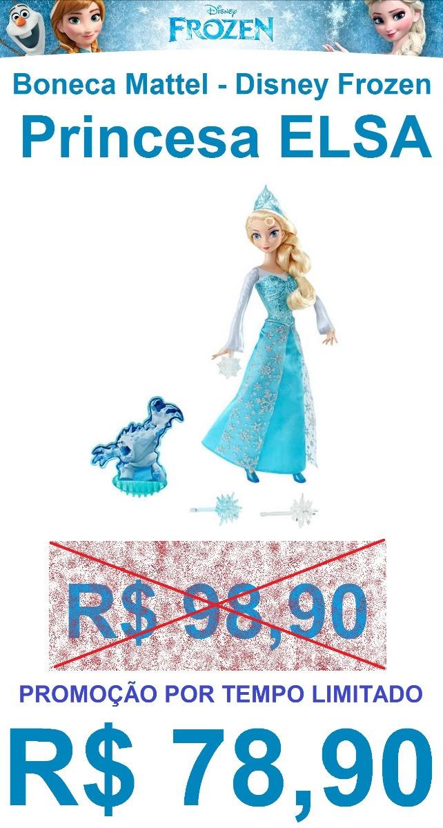 02e08a82cd boneca disney frozen princesa elsa em ação mattel original. Carregando zoom.
