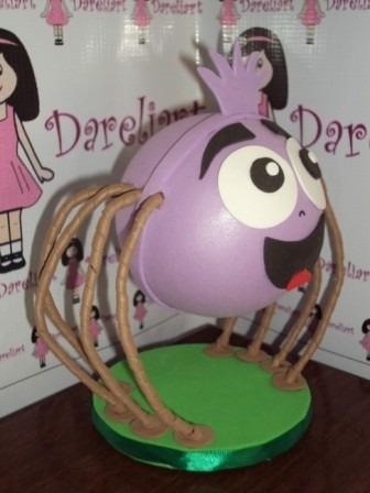 boneca dona aranha em eva 3d 18 cm - galinha pintadinha