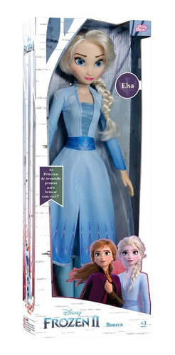 boneca elsa articulada grande 55 cms frozen 2 baby brink