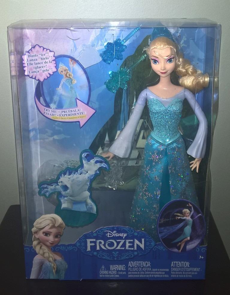 9ce06191ad Boneca Elsa Em Ação - Poder De Gelo - Disney Frozen - Mattel - R ...