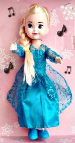 Boneca Elsa Frozen Musical Toca Let Go