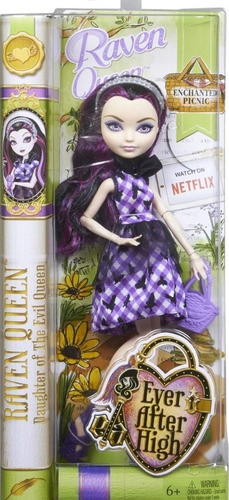 boneca ever after high piquenique - raven queen