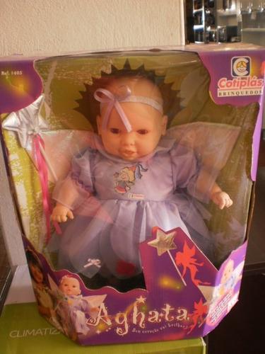 boneca fada agatha cotiplas ref 1405 tamanho 40cm