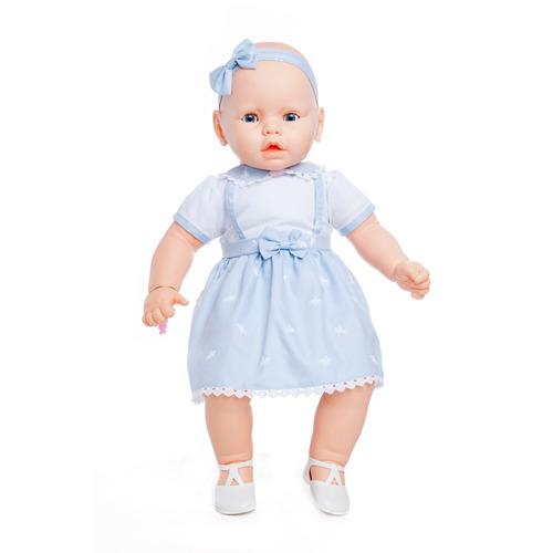 boneca grande meu bebê com vestido azul chupeta estrela