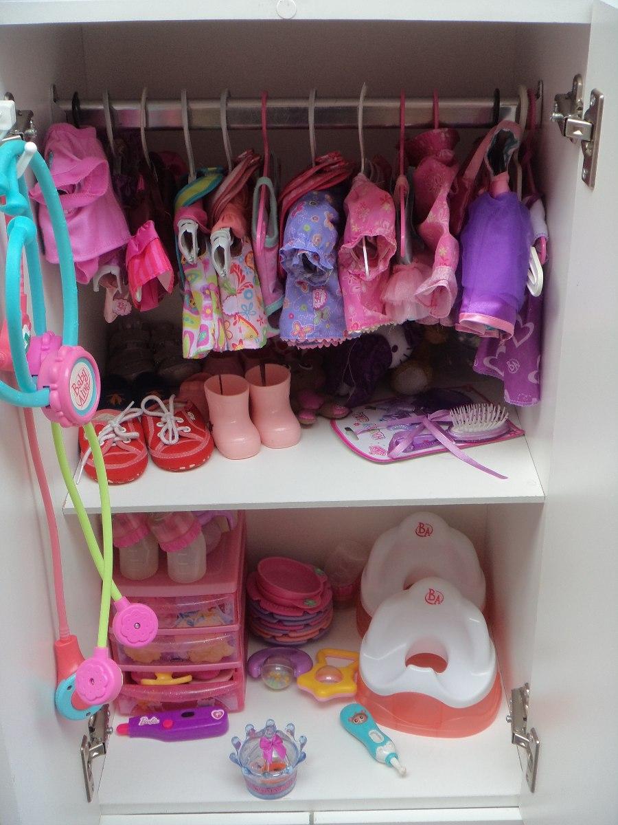 boneca - guarda roupa de boneca baby alive