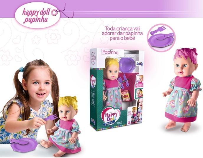 e17dcd19bf Boneca Happy Doll Papinha - R  50