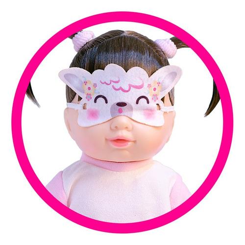 boneca hora da soneca com pijama e mascaras de lhama