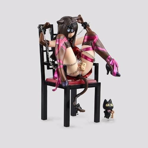 boneca japão desenho manga gata gat sexy cadeira coleção