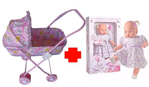 boneca judy -  berço/carrinho de boneca - uliví