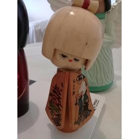 Boneca Kokeshi De Madeira Original Do Japão (rara/ano 1995)