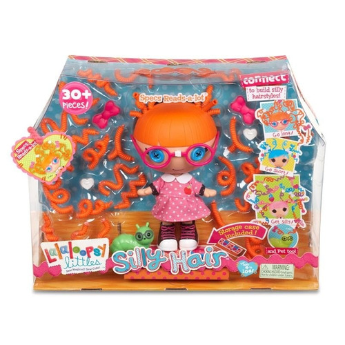 boneca lalaloopsy silly hair specs reads a - lot