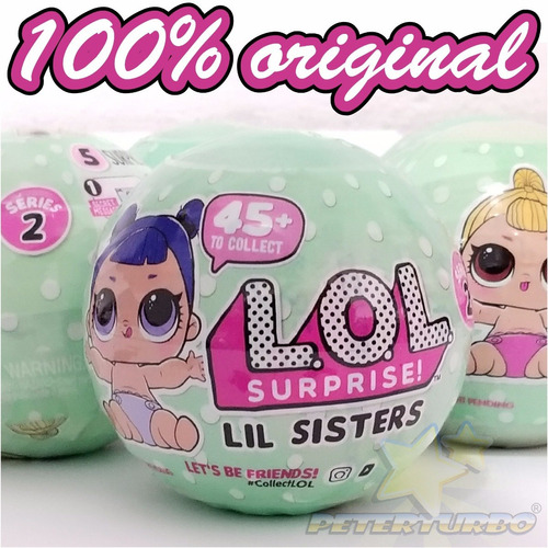 boneca lol surprise lil sisters doll mga americana bola 45+