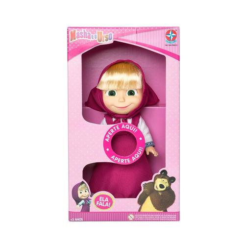 boneca masha e o urso com som - estrela