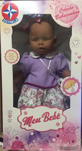 boneca meu bebe negro vestido lilas estrela 60 cm bonellihq