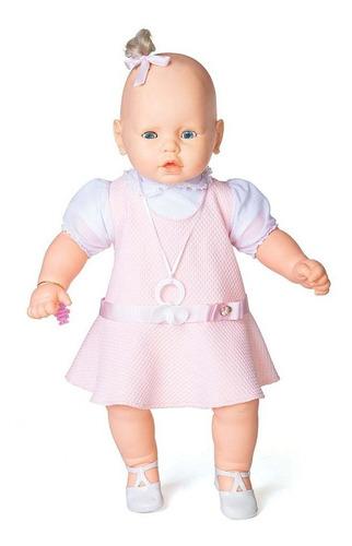 boneca meu bebe vestido rosa estrela 60 cm bonellihq h18