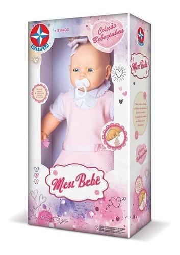 boneca meu bebe vestido rosa estrela 60 cm bonellihq u20