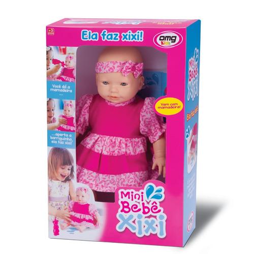 boneca mini bebê xixi c/ mamadeira - cod 4995