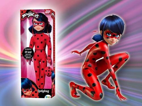boneca miraculous ladybug 55cm original meninas frete gratis
