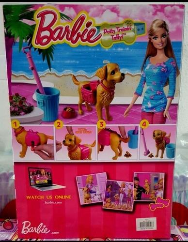 boneca modelo barbbie pet com cachorro faz coco passeio