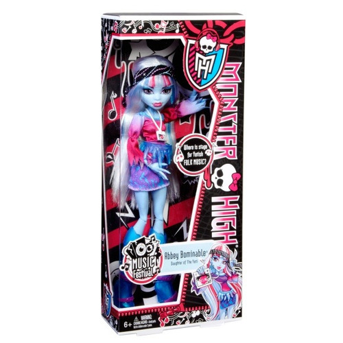 boneca monster high abbey bominable v.i.p festival de música