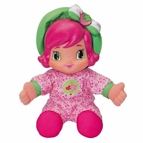 boneca moranguinho baby 33cm c/ cheirinho morango multibrink