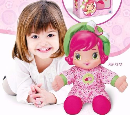 boneca moranguinho baby 33cm com cheirinho  - multibrink