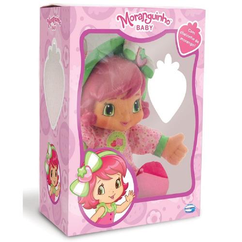 boneca moranguinho baby - multibrink