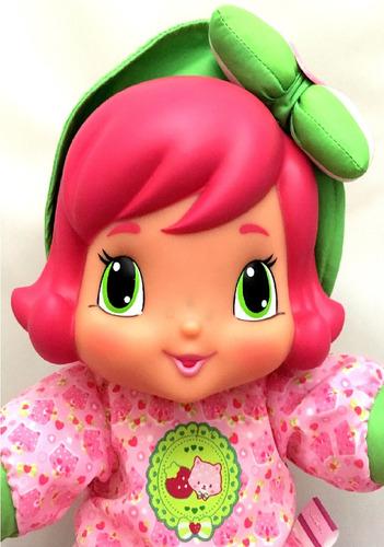boneca moranguinho bebê baby rosa original multibrink