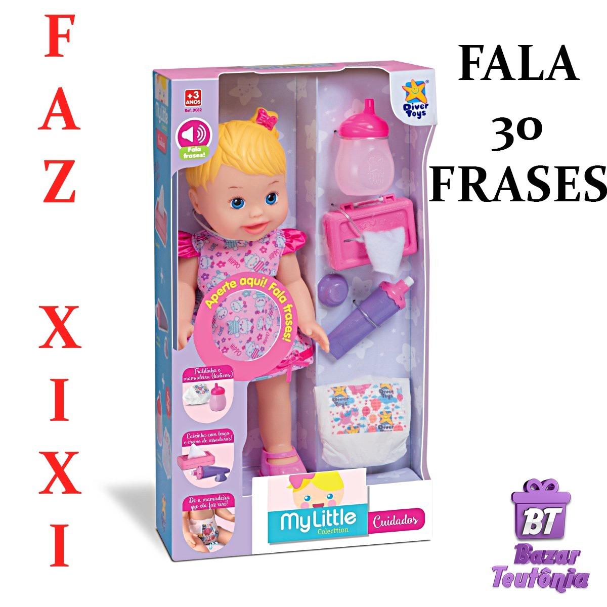 Boneca My Baby Little Faz Xixi Com Fralda Fala 30 Frases