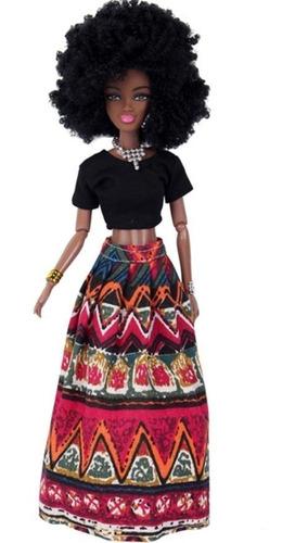 boneca negra africana estilo barbie frete grátis + brinde