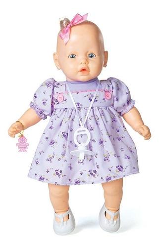 boneca nenezinho vestido lilas estrela 44 cm bonellihq h18