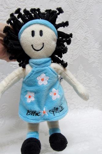 boneca pelucia menina bike girls 18 cm bau