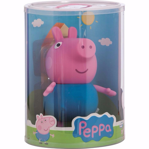boneca peppa pig + george pig multibrink original