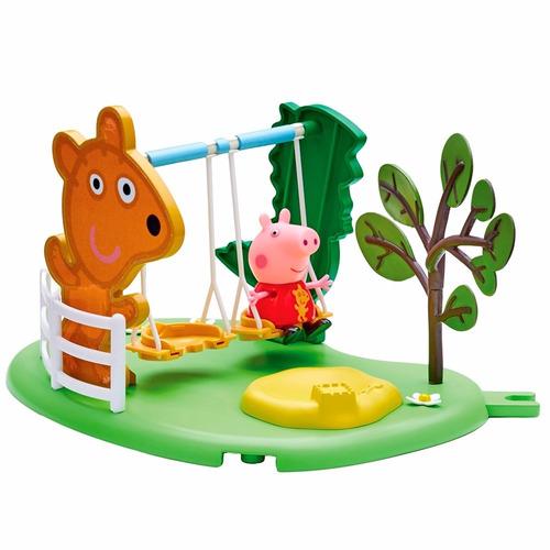 boneca peppa pig - hora de brincar com balanço - dtc