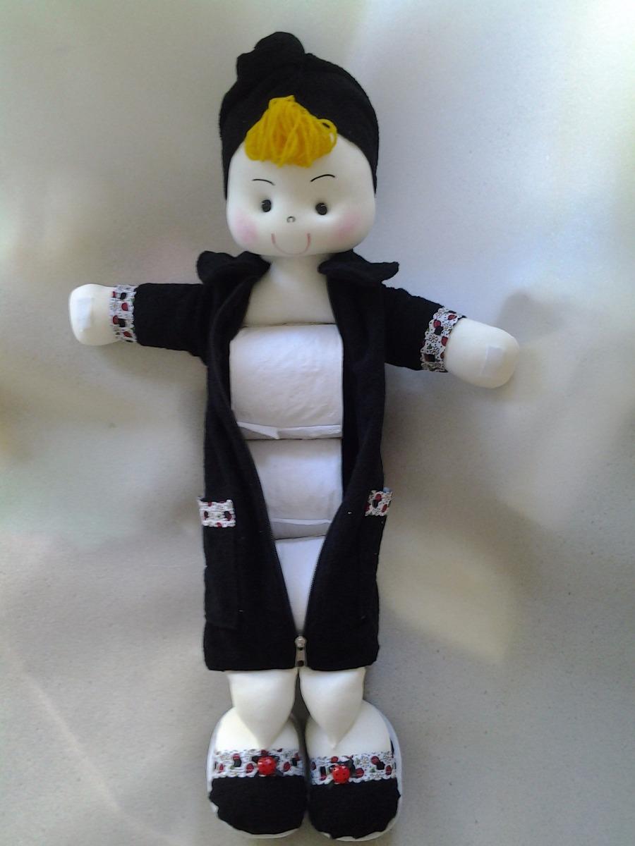 Boneca porta papel higi nico com roup o decorada r 80 for Colgadores para papel higienico