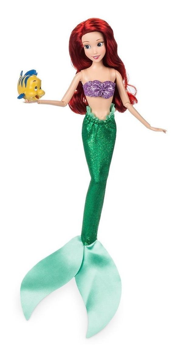 Boneca Princesa Ariel Pequena Sereia Original Disney Store R