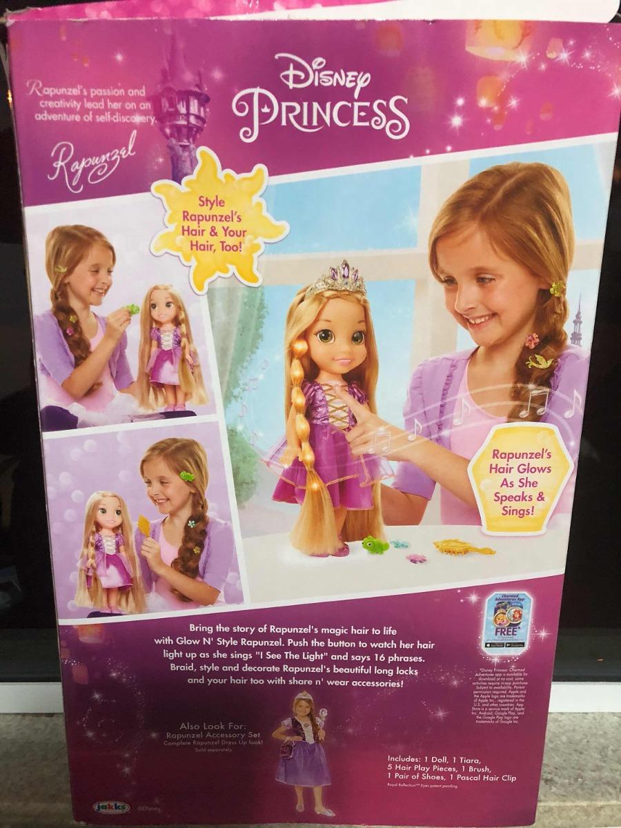 06f55bbea Boneca Rapunzel Brilho E Estilo Disney Princess Original - R  329