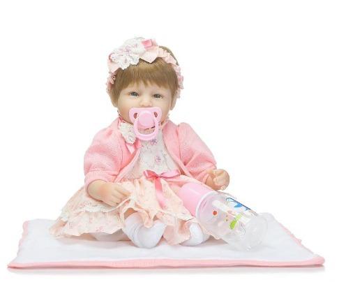 boneca reborn bebe reborn alice realista linda dentinhos